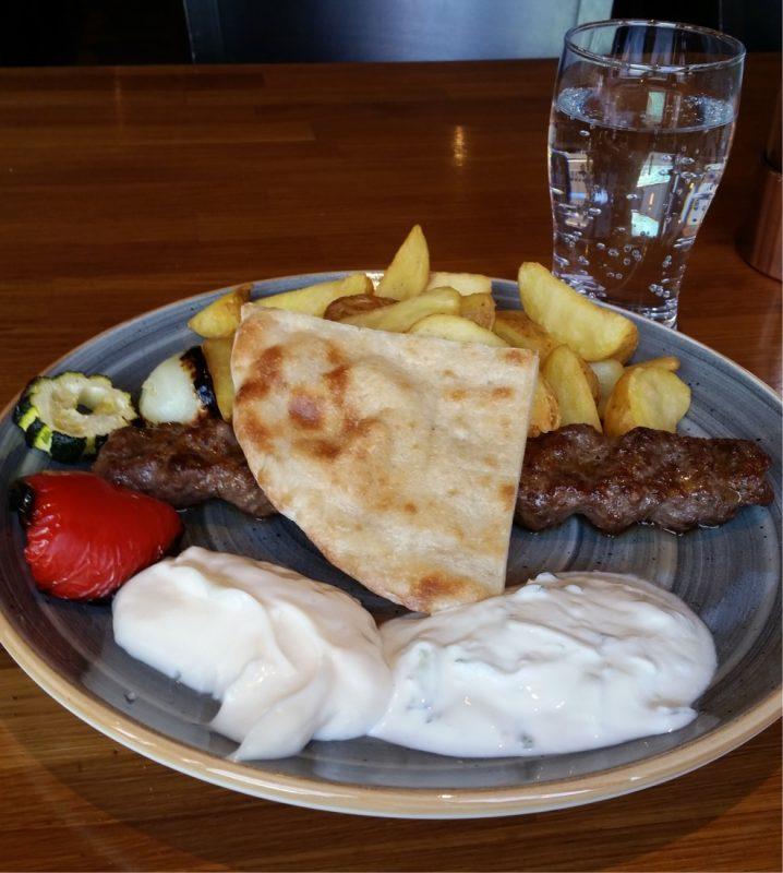 Adana-spett på restaurang efesos